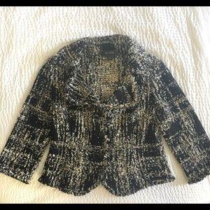 ST JOHN Black Label Collection boucle jacket Sz 12